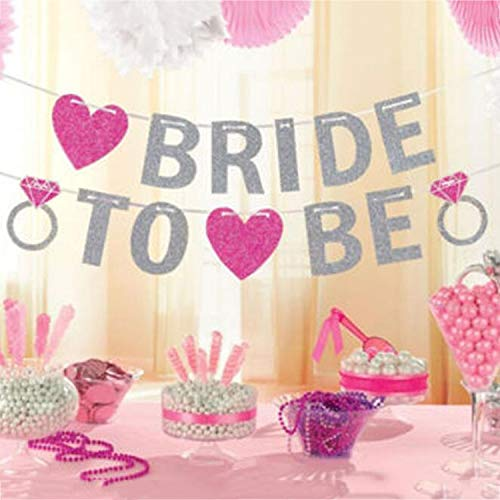 Yichaoya Vakantie Decoraties Wuzpx BRIDE te zijn Glitter Poeder Brieven Banners Bruiloft Decoratie Banners