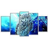 Joyas Leinwand Wohnzimmer Hauptdekoration Wandkunst Bilderrahmen 5 virtueller Raum Tier Eule Malerei HD druckt modulares Poster