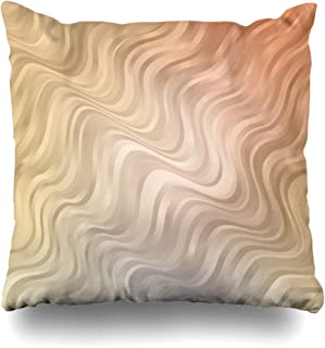 Ahawoso Throw Pillow Cover Decorative Square 16x16 Orange Bent Bandy Sample Geometric Memphis Lines Template Abstract Circular Textures Trendy Mosaic Cushion Case Home Decor Zippered Pillowcase