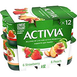 Dannon Activia Peach/Strawberry Lowfat Yogurt, 4 oz