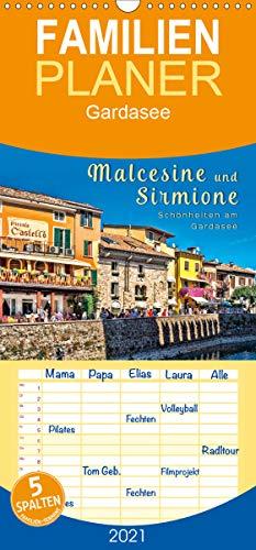 Malcesine und Sirmione, Schönheiten am Gardasee - Familienplaner hoch (Wandkalender 2021, 21 cm x 45 cm, hoch)