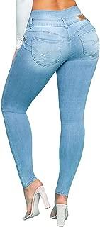 Jeanswear Juniors' Wannabettabutt Triple Button Stacked-Waist Skinny Jeans