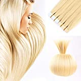 20 inches Remy Tape In Hair Extensions Blonde Full Cuticle Virgin Hair Straight Tape Hair 50g 20pcs