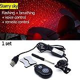 Romantisches Auto Dekoration USB LED Licht Sternenhimmel Stern DJ Sound Musik Fernbedienung Auto...