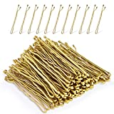 Blonde Bobby Pins,MORGLES Gold Bobby Pins for Hair Bob Pins Bulk with Box 120-Count (Blonde,2.2 Inch)