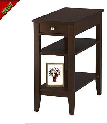 Amazon.com: Mason mesa auxiliar en acabado cerezo oscuro ...