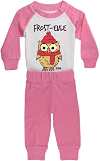 Hariz - Pijama para bebé, diseño de búho, incluye tarjeta de regalo, color rosa y fucsia