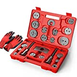 MOSTPLUS Universal Disc Brake Caliper Wind Back Tool and Piston Compression Sets-22 Pieces (Red)