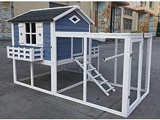 Flyline Garden Window Chicken Coop House 2130x1385x1310mm Chook Pen Rabbit Hutch Nesting Box Poultry Enclosure with Mesh Floor Snake Proof