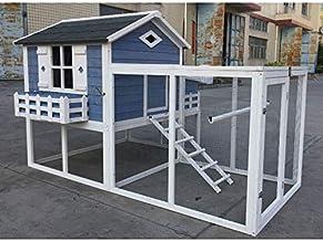 Flyline Garden Window Large Chicken Coop Chook Pen Cage House Predator Proof L85 x W58 x H52 inches
