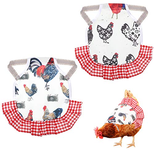 Standard Chicken Saddle Hen Apron Feather Fixer Easy Elastic-Strap-On Aprons Wing Back Protector for Poultry Back Wing Protection (2)