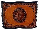 Guru-Shop Bali Sarong, Wandbehang, Wickelrock, Sarongkleid, Herren/Damen, Celtic Orange, Synthetisch, Size:One Size, 160x100 cm, Sarongs, Strandtücher Alternative Bekleidung