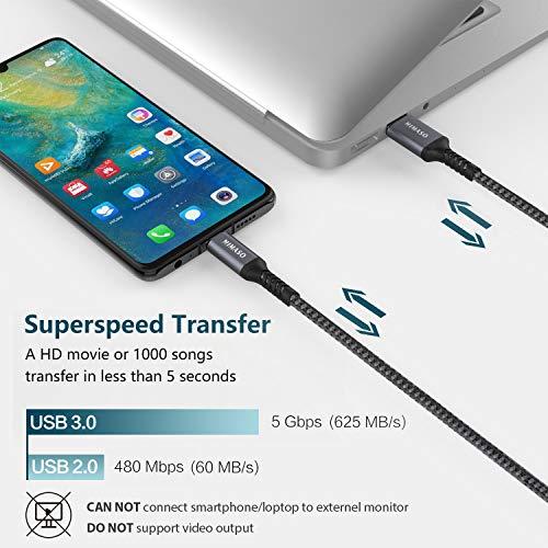 Nimaso USB C Kabel 2M, USB C Ladekabel und Datenkabel, Typ C Ladekabel 3.0 für Samsung Galaxy S10/S9/S8/Note 9, Huawei P30/P20/P20 Lite/Mate20/Mate 9, MacBook, Sony, Tablette usw.