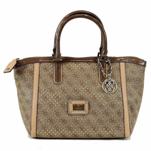 6afc982931 Guess Women s Logo Remix SP452706 Uptown Satchel Handbag (Brown) Features  and Description