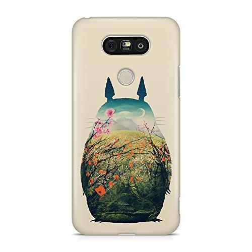 ItalianCaseDesign Funda Protectora Case Totoro Dibujo película Mio Vicino Totoro Hayo Miyazaki Compatible con LG G3 G4 G5 G6 V20 Q8 Q6 K4 K7 K10 K4-2017 K10-2017