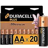 <span class='highlight'><span class='highlight'>Duracell</span></span> Plus AA Alkaline Batteries [Pack of 20], 1.5 V LR06 MX1500, black