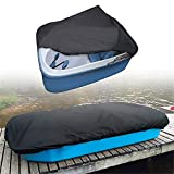 munirater Pedal Boat Cover 420D Waterproof Dustproof Tear Resistant Boat Protector Replacement for 3 or 5 Person Pedal Boat Pelican Boat Monaco Boat 115 L x 80 W Black