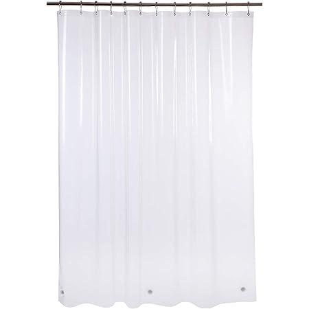 Blu-Pier Tech Heavy Duty 8 Gauge Shower Curtain Liner White 72 inch x 80 inch