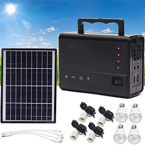 FDGBCF Nouveaux Panneaux solaires portatifs chargeant l'éclairage extérieur de système d'alimentation de générateur à la Maison pour l'ampoule de LED