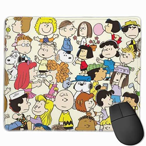 Snoopy and Friends - Alfombrilla de ratón para juegos (base de goma, antideslizante, para computadoras portátiles, para oficina/juegos/hogar