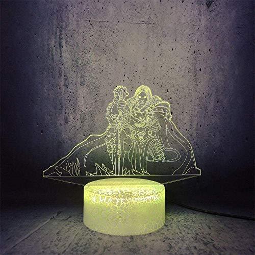 3D Illusion Lamp Led Night Light Gioco caldo Wow World of Warcraft Ruolo Lich King 7 Lampada da tavolo a colori Bambini Bambini Regalo di Natale Lava