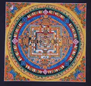 Hand Painted Kalachakra Mandala Thangka Painting From Nepal (007)