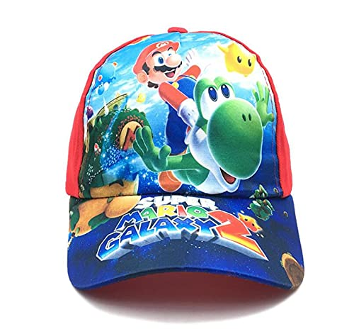 Super Mario Hat Anime Super Hat Cap Luigi Bros Letter Printed Cosplay Baseball Disfraz para adultos Sombreros