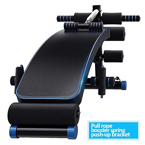 Bauch Maschine Multifunktions Bauchmuskeln RüCkenbrettfüR Home Bauchmuskeln RüCkenbrett FitnessgeräTe Assistive Mit Faltbar-Seil Booster Push-Up-Halterung Ziehen_172x50x61cm