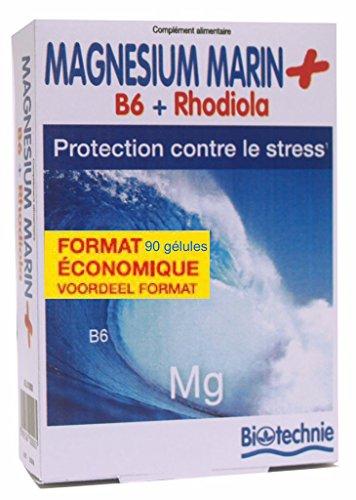 BIOTECHNIE Magnésium marin + Rhodiola - 90 gélules -