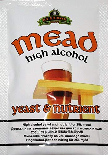 Hugbert Weinhefe, Honigwein Hefe, Mead Hefe + Nährstoff auf 25L Alkohol Gärhefe Brennhefe, Wein, 1 Stück