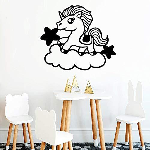 Geiqianjiumai Unicorn romantische natuurlijke decoratieve applicatie vinyl muursticker keukenbehang kinderkamer creatieve stickers