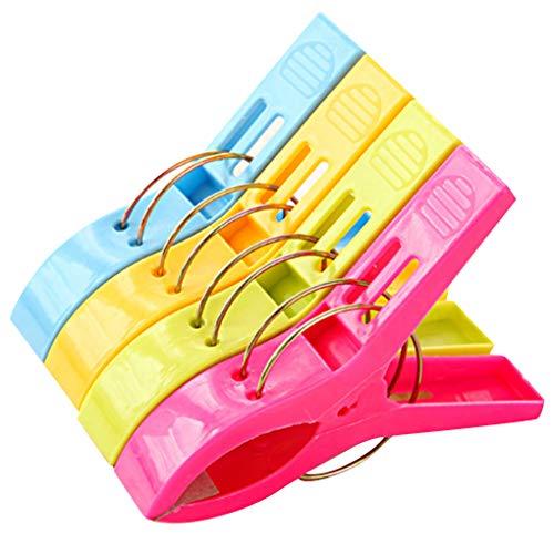 Guangcailun Vestiti 16PCS / Set di Asciugamani Morsetto di Vestiti di plastica di plastica pioli pioli Lavanderia Pin Large Size stenditoi Fermaglio Organizzazione
