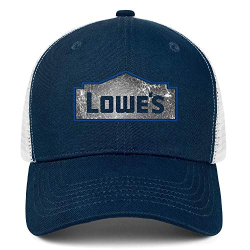 NINETYRW Popular Mens Trucker Hat Lowe's-Denim-Old-Hollow-Logo- Baseball Caps Women Retro Mesh Snapback Cap