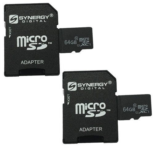 Nikon KeyMission 360 4K Action Camera Memory Card 2 x 64GB microSDXC Class 10 Extreme Memory Card with SD Adapter (2 Pack)