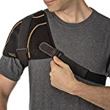Copper Fit Unisex-Adult's Rapid Relief Shoulder Wrap with Hot/Cold Ice Pack, black, One Size Fits All