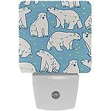 Ursa Minor - Lámpara LED de noche con diseño de oso polar con sensor de movimiento automático del atardecer al amanecer, apto para dormitorio, baño, escaleras, cocina, pasillo