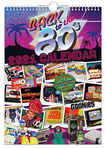 Wandkalender 2021 Zurück in die 80er Jahre // Nostalgisch / Witzig / Weihnachten / Geburtstag / Geschenkidee / Geschenk / Neuheit / Humor / Wichteln / Jahresplaner / Bürogeschenk