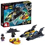 LEGO Super Heroes DC Batman All'inseguimento del Pinguino con la Bat-barca, Imbarcazione Giocattolo per Bambini di 4 Anni, 76158