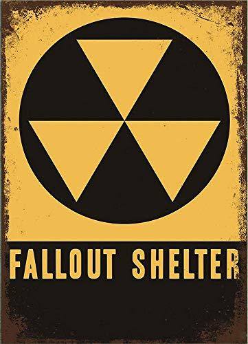 Froy Fallout Shelter Pared Cartel de Chapa Retro Hierro Cartel Pintura Placa Hoja de Metal Vintage Arte Personalizado Creatividad Decoración Artesanía para Cafe Bar Garaje Inicio