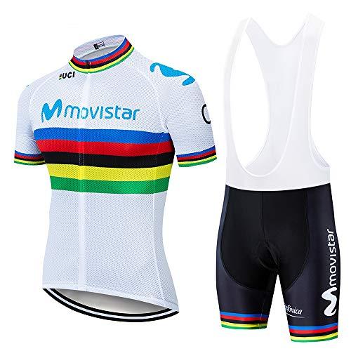 UIMED Maillot de ciclismo de manga corta de verano para hombre culotte con tirantes de ciclismo con almohadilla de gel 3D adecuado para ciclistas y ropa de ciclismo