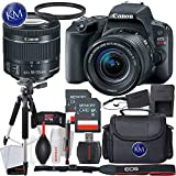 Canon EOS Rebel SL2 DSLR Camera w/ 18-55mm Lens + 32GB Card + Basic Photo Accessory Bundle