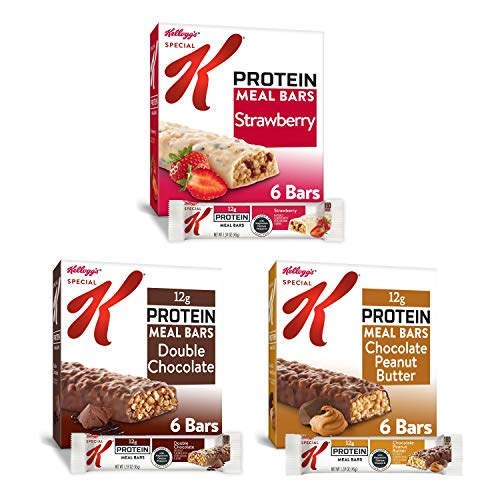 Kellogg#039s Special K Protein Meal Bars  3 Flavored Variety Pack Office or School Meal Replacement or Snacks Case contains 18 Count