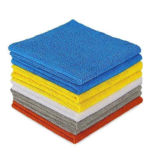 AIDEA Microfiber Cleaning Cloths-8PK, Cleaning Cloth Drying Towel, All-Purpose Softer Highly Absorbent, Lint Free, Streak Free Wash Cloth for House, Kitchen, Car, Window, Gifts-(12in.x 12in.)