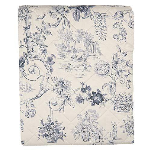 Clayre und Eef Bettüberwurf Tagesdecke Quilt Mehrfarbig Polyester Q191.059