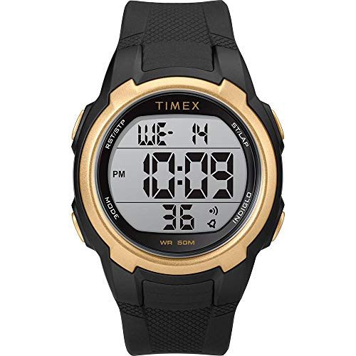 Timex T100 Black/Gold - 150 Lap [TW5M33600SO]