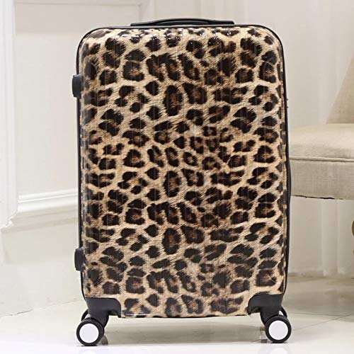 TUW 20' 24' 28' Inch Fashion Trolley Suitcase Zebra Leopard Print Rolling Suitcase Wheeled Travel...