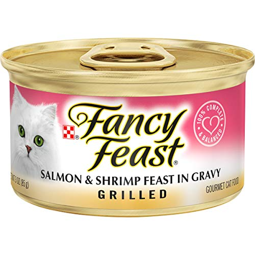 Purina Fancy Feast Grilled Gravy Wet Cat Food, Salmon & Shrimp Feast - (24) 3 oz. Cans