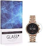 BECEMURU Fossil Q Venture HR Schutzfolie Bildschirmschutzfolie 9H Festigkeitgrad Berichterstattung Bildschirmschutzfolie Gehärtetes Glas für Fossil Q Venture HR Smartwatch (3 Stück)