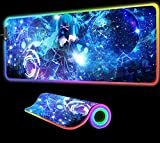 Mouse Pads Anime Girl Video Games Mouse Pad RGB LED Gaming Computer Mouse Pad Large Gaming Mousepad XXL Gamer Carpet Desk Mat 24 inch x12 inch