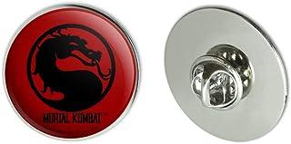 """GRAPHICS & MORE Mortal Kombat Symbol Metal 1.1"""" Tie Tack Hat Lapel Pin Pinback"""